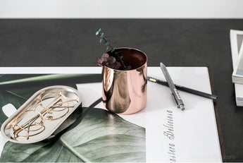 Rose Gold Pen Cup / Organizer
