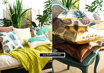 Pillow Case - Tropical Plants