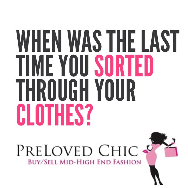 When was the last time you sorted through your clothes???