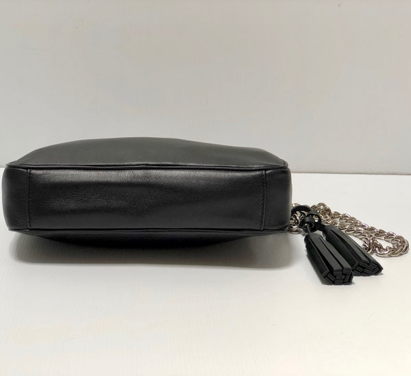 Coach Legacy Flight Bag in Black with Chain Strap