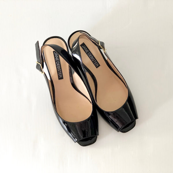 Jane Debster Gravity Black Patent Size 6