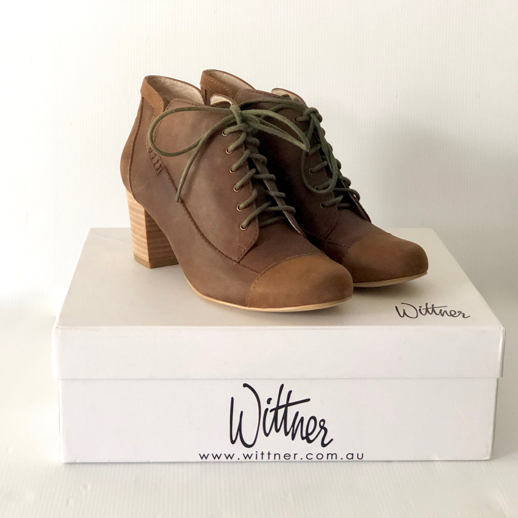 Wittner Buddy Brown Bootie Size 37 - Brand New