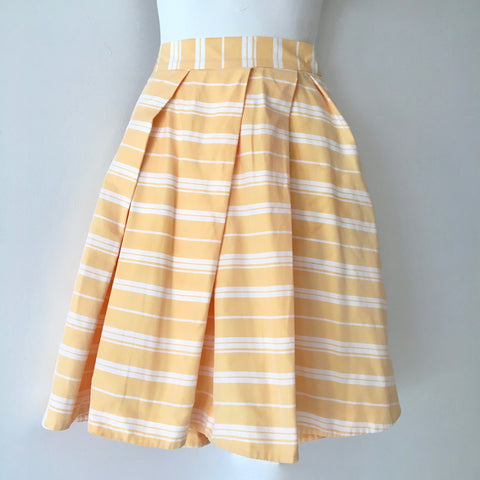 Cue Yellow & White Striped Skirt Size 6