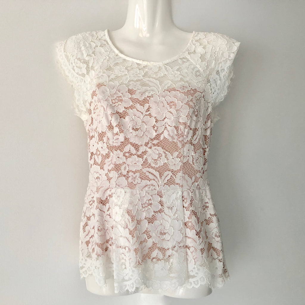 Portmans Lace Ivory Top Size 6 Brand New