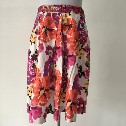 BASQUE Floral Cotton Skirt Size 8