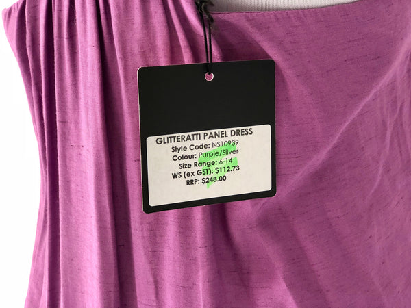 Nookie Glitteratti Panel Dress Size 10 - Brand New with tags