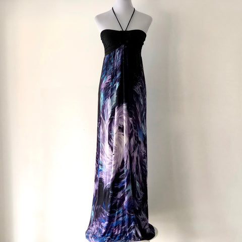 Sheike Halter-Neck Maxi Dress Size 10