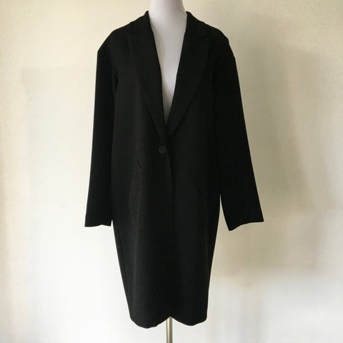Cue Black Relaxed Coat Size 14 - Brand New with Tags