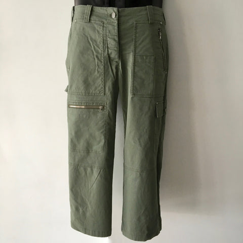 DKNY Khaki Cropped Pants Size US6 UK8