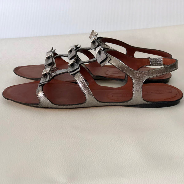 Marc Jacobs Leather Gladiator Sandals Size 37 - Brand New