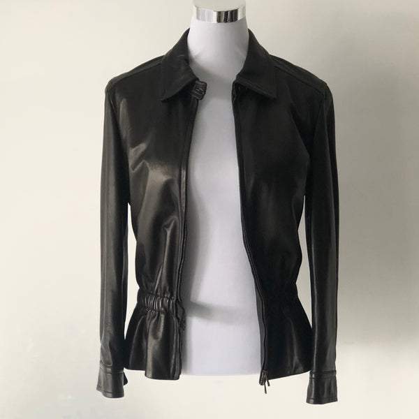 Bally Womens Leather Jacket Size UK 38/ USA 10
