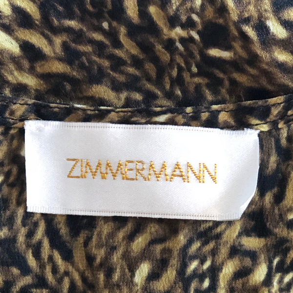 Zimmermann Gold Chain Silk Dress Size 1