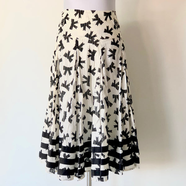 PINGPONG Black and White Bow Skirt Size 12