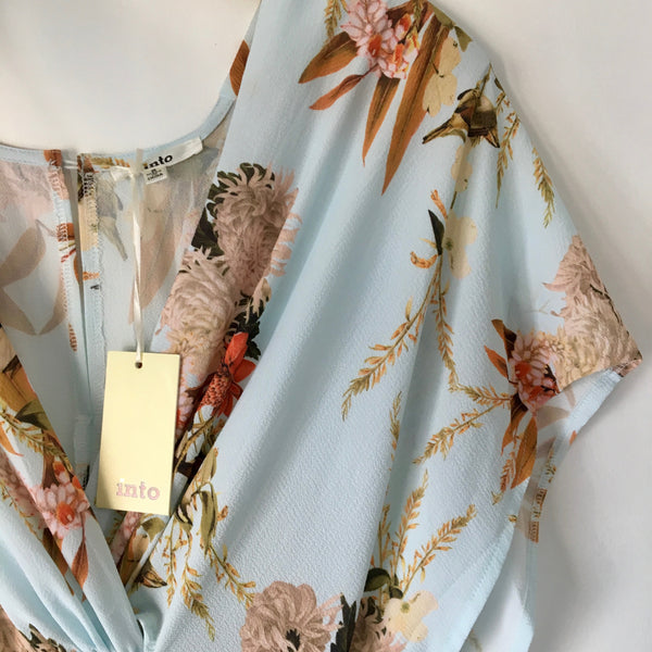 INTO Baske Twist Dress - Mint Flower Size 8 - Brand New