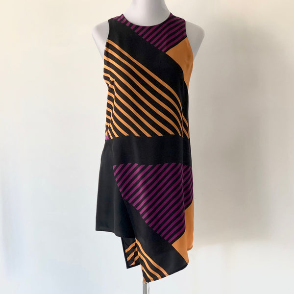 Yeojin Bae Silk Stripe Dress Size 1 / UK 8