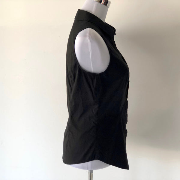 Cue Black Sleeveless Blouse Size 12