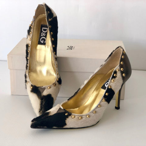 Dolce & Gabbana Pony Hair Pumps Size 37