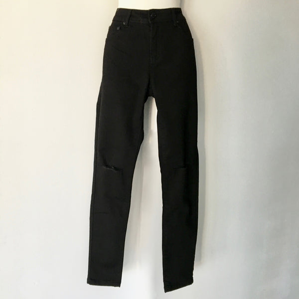 Shop Their Look Ripped Jeans Black Size 10  - Brand New