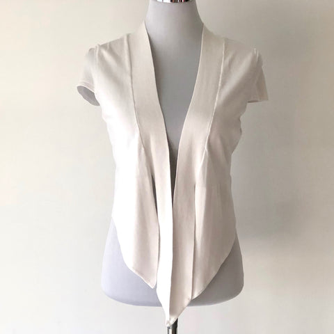 Events Tie Front White Cardigan Size S - Brand New with Tags