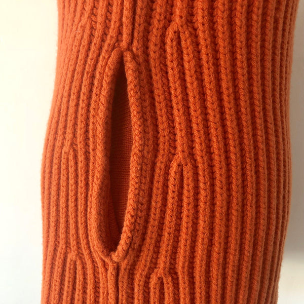 Stella McCartney Fall 2010 FUNNEL NECK RIBBED KNIT Dress Size 38