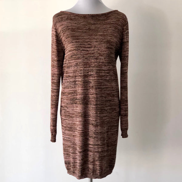 M Missoni Multicolour Boat Neck Backless Sweater Dress Size UK 8