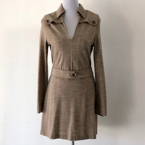 Escada Sport Wool Blend Belt Dress Size 38