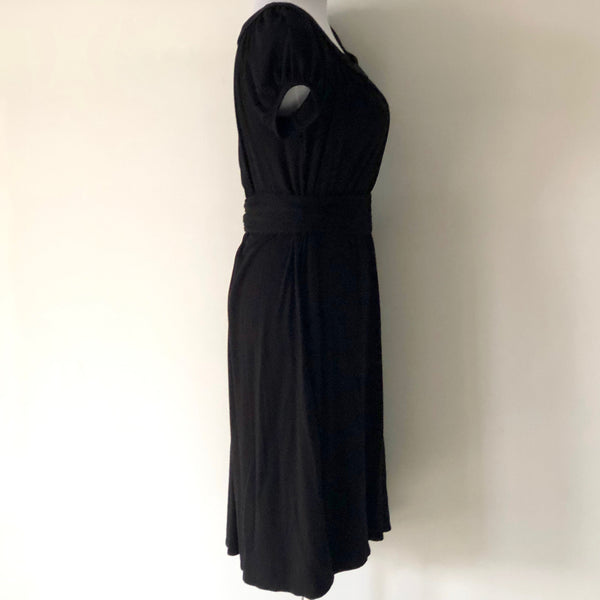 SABA Black Dress with Belt Size 10