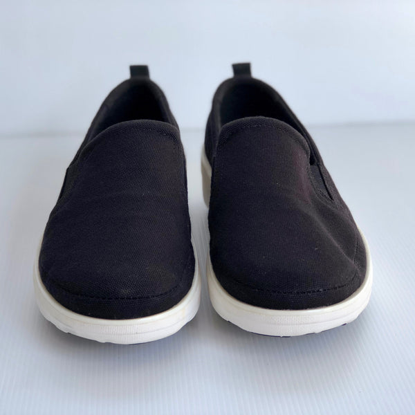 FitFlop SUPERSKATE™ CANVAS Loafers Black UK 5/ US 7 - Brand New