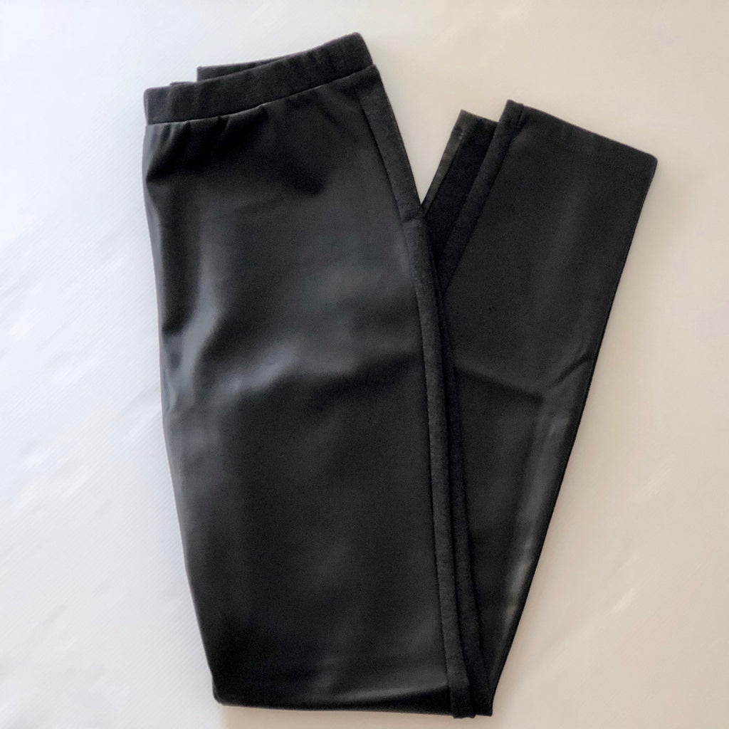 Michael Kors Faux Leather Front Pants Size L