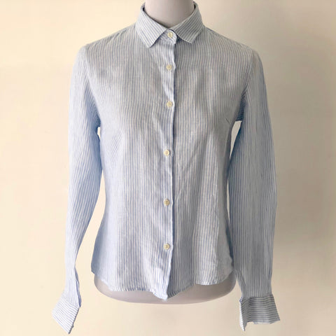 Studio B Striped Linen Shirt Size S