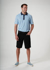 Front View of VUGA - Anton 5-Pocket Shorts - Black