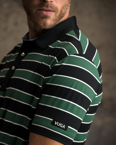 Dudley Auto-stripe Polo - Green/Black