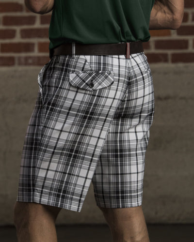 Duncan Plaid Short - Black/White