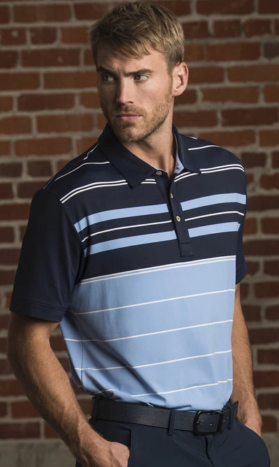 Eaton Engineered Stripe Polo
