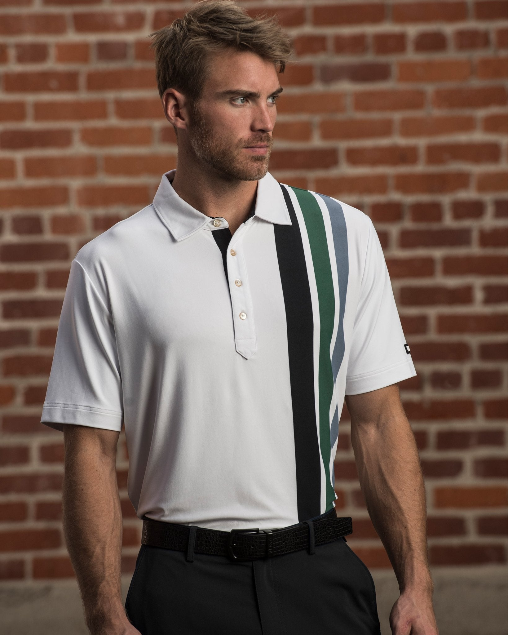 Graham Vertical Stripe Polo
