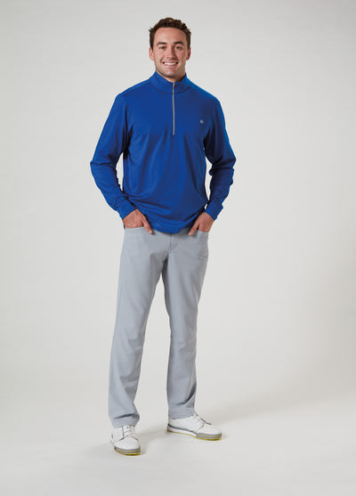 Front View of VUGA - Jack Performance Zip Mock - Royal Blue