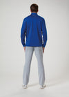 Back View of VUGA - Jack Performance Zip Mock - Royal Blue