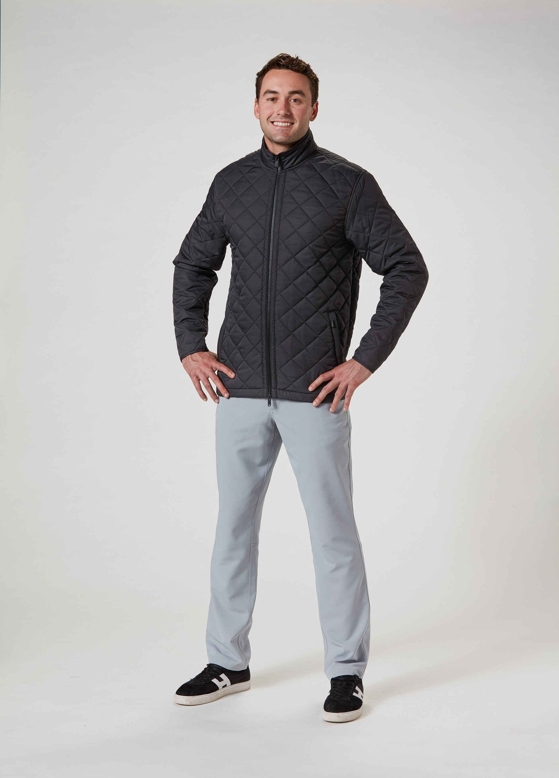 Mason Quilted Jacket - Gun Metal