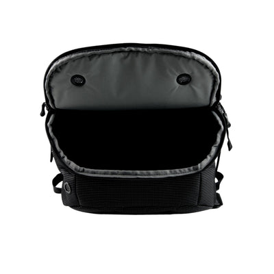 Flap Open View of VUGA - Allem Duffle Travel Backpack