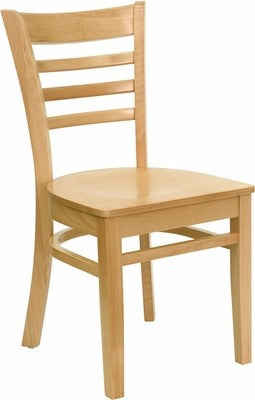 Solid Wood Dining Ladder Back Chair Natural Finish