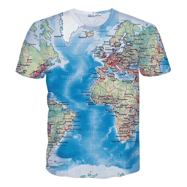 Men's T-Shirt 3d print Maps