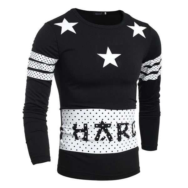 Men'S Fashion Star Printing T-Shirts