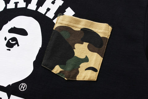 COLLEGE 1ST CAMO POCKET TEE