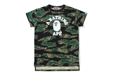TIGER CAMO COLLEGE LONG LENGTH TEE