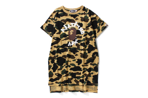 1ST CAMO LONG LENGTH TEE
