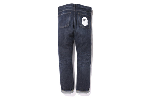 2008 TYPE-05 APE HEAD DENIM PANTS