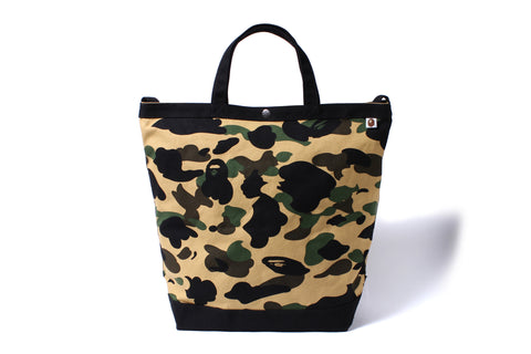 1ST CAMO SHOULDER TOTE BAG