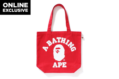 COLLEGE TOTE BAG -ONLINE EXCLUSIVE-