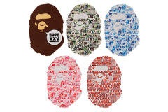 BAPE XXV CITIES CAMO STICKERS SET