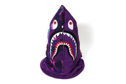 COLOR CAMO SHARK FACE MASK
